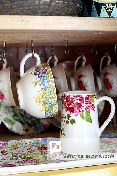 Tasse hängen Tee