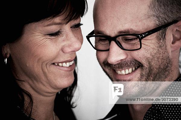 Portrait of a happy couple Denmark.