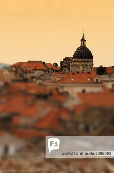 Abendblick von Dubrovnik Kroatien  geringe Tiefenschärfe