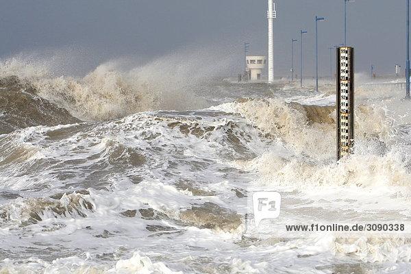 Sturmflut  Dagebüll  Schleswig-Holstein  Deutschland