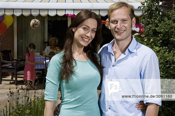 Portrait of mid adult couple  outdoors