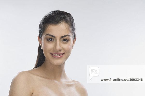 Portrait einer Frau lächelnd