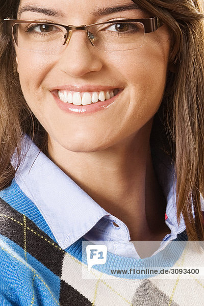 Close-up of a woman smiling
