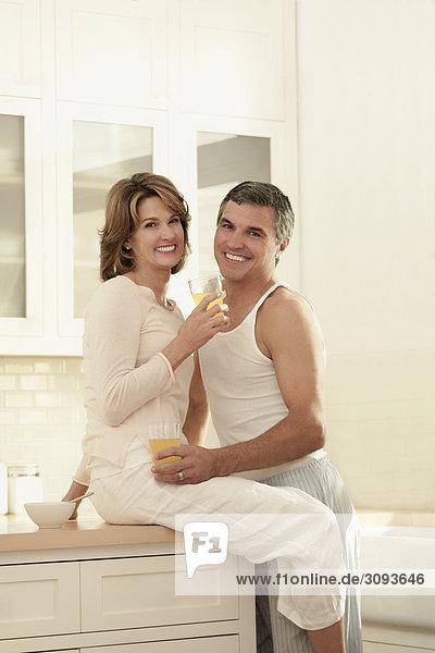 Küche trinken Saft Romantik