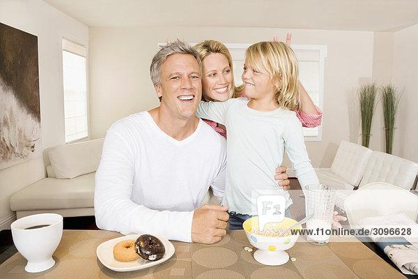 Tochter Frühstück