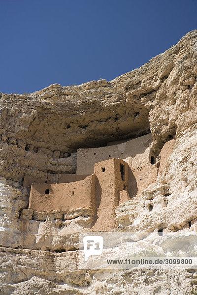 Ruinen einer Burg  Montezuma Castle  Montezuma Castle National Monument  Arizona  USA