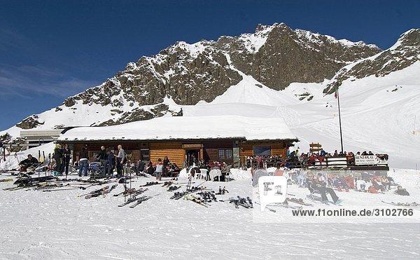 Skipiste Piste Aostatal Italien