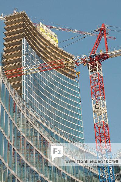 Italien  Lombardei  Mailand  Neubau der Region Lombardei im Bau