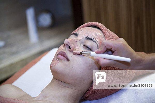 Frau Gesichtsmaske Maske