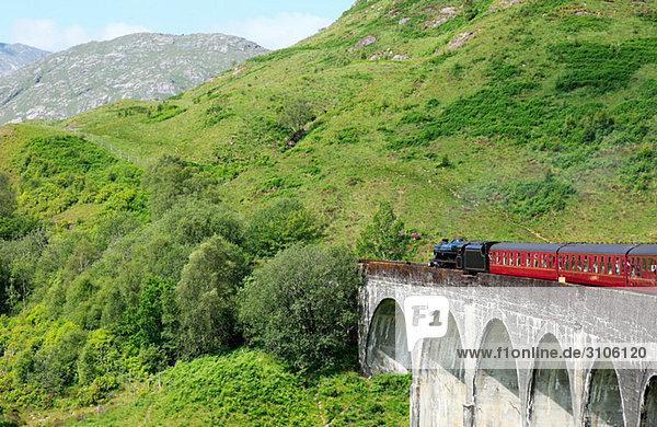 Dampfzug auf dem Glenfinnan-Viadukt