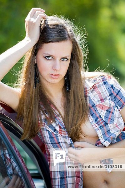 Attractive young woman outdoors