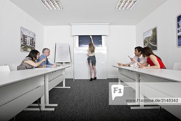 (blooper )Präsentation im Besprechungsraum