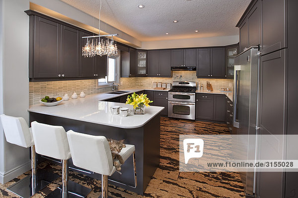 Kitchen with cork floors