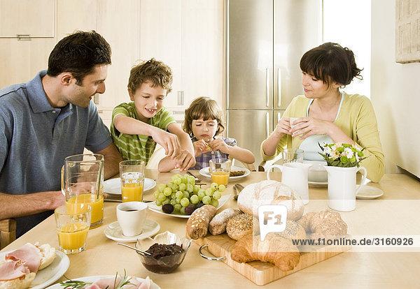 Familie Essen Frühstück