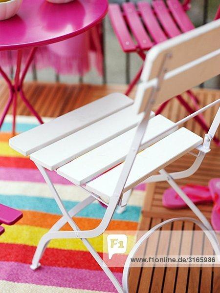 Farbaufnahme Farbe Balkon Helligkeit