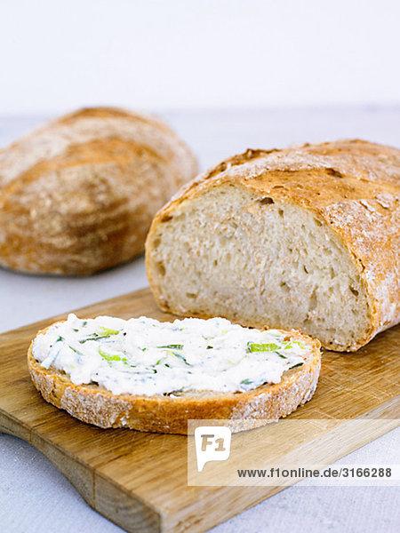 Brot mit Frischkäse  Schweden.