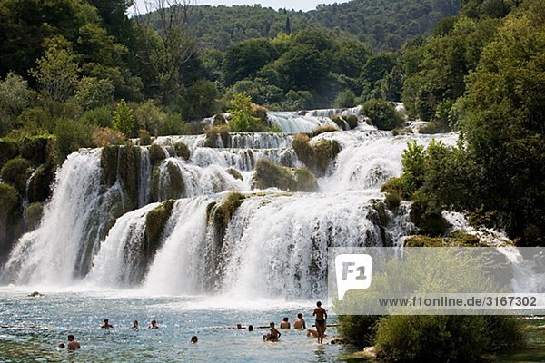 Skradinkski Buk Wasserfälle Krka Nationalpark Kroatien.