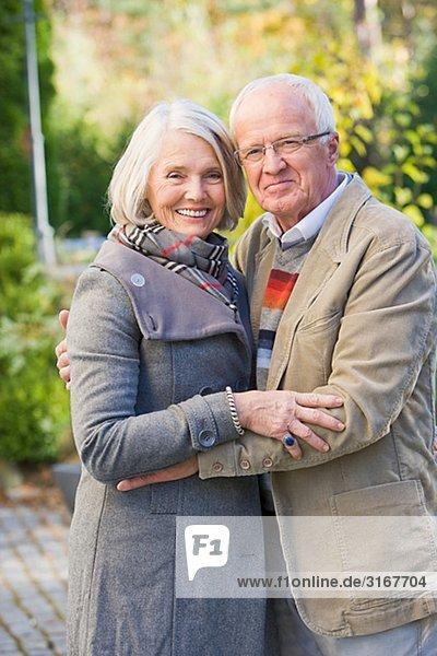 Portrait of a senior couple  Sweden.