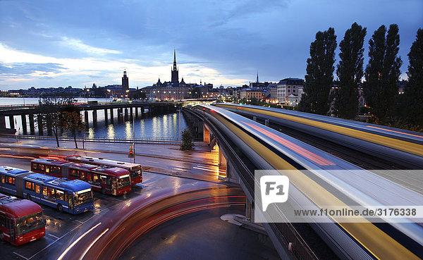 Stadtansicht von Stockholm.
