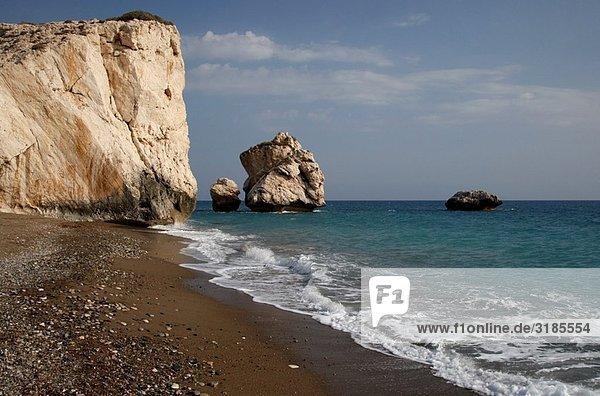 Aphrodites rock  petra tou romiou  Republic of Cyprus