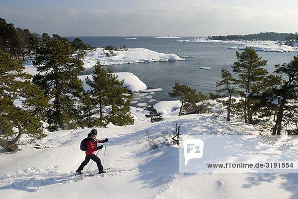 Mensch Skisport Inselgruppe