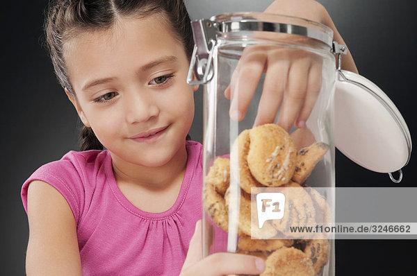 Mädchen Keks