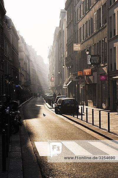 A street against the light  Paris  France.