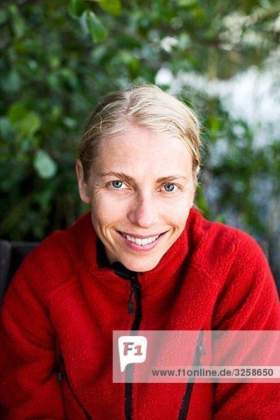 Portrait einer blonden Frau  Finnland.
