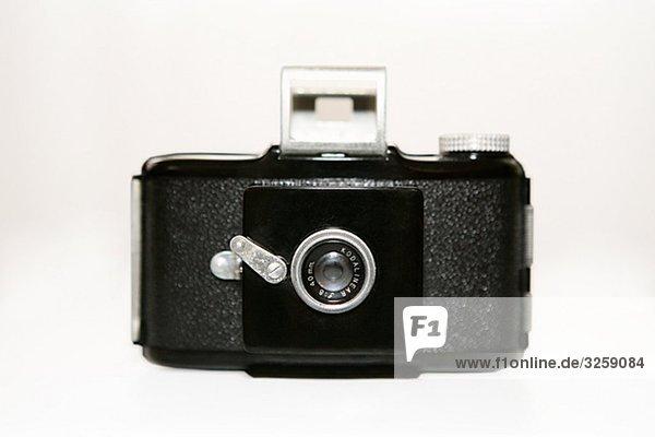 Einer alten Kamera.