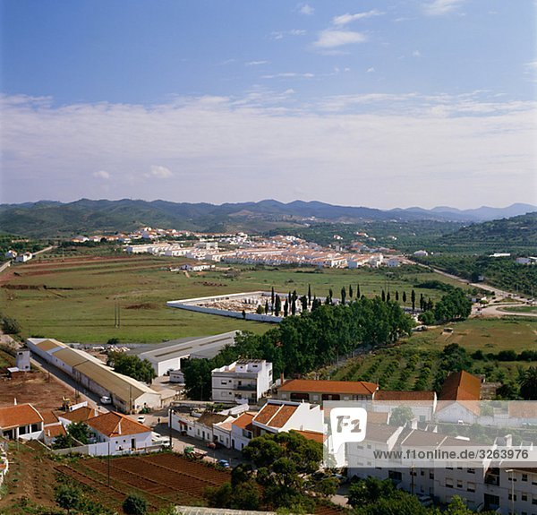 View of Silves  a town in Portugal.