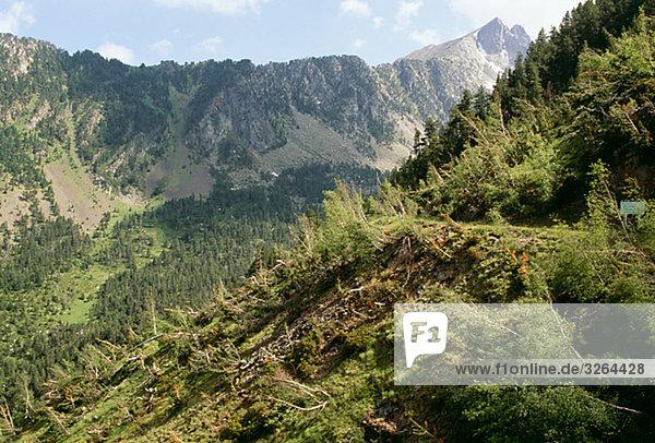 Landschaft  Aguies Torten Nationalpark  Espot  Pyrenäen  Spanien.