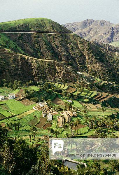 Vallehermoso  La Gomera  Spain.