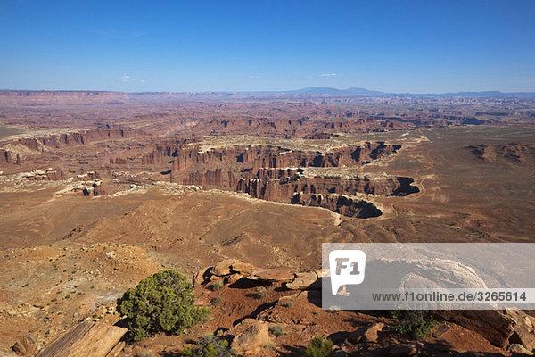USA  Utah  Moab  Grand View Point Overlook  Canyonlands Nationalpark