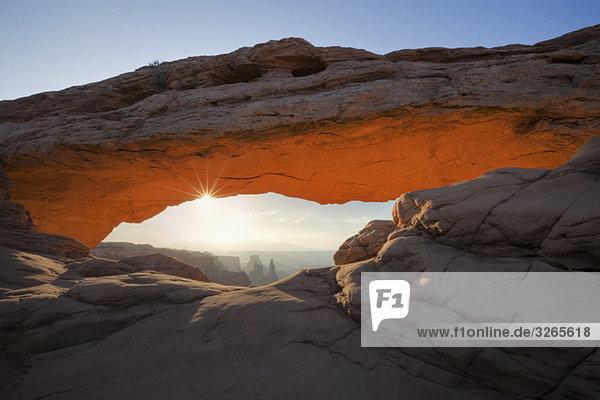 USA  Utah  Canyonlands National Park  Mesa Arch