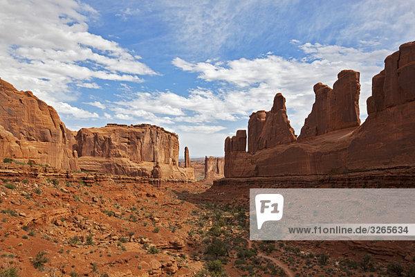 USA  Utah  Arches Nationalpark  Gerichtstürme
