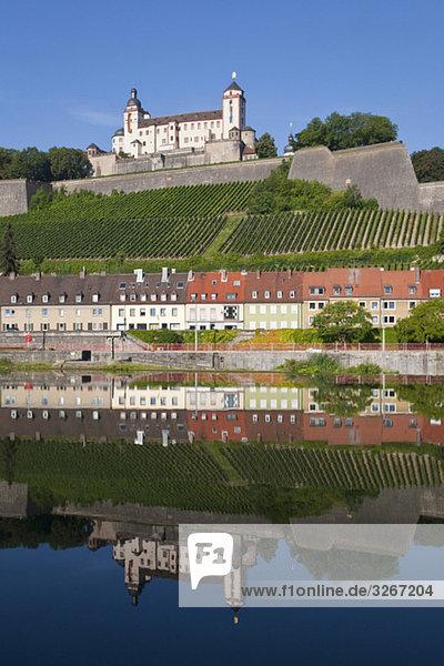 Deutschland  Bayern  Franken  Würzburg  Festung Marienberg