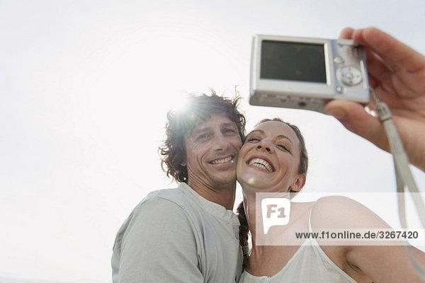 Spanien  Mallorca  Selbstporträt eines Paares