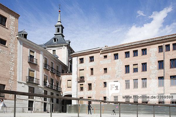 Untersicht ein Rathaus  Casa De La Villa  Plaza De La Villa  Madrid  Spanien