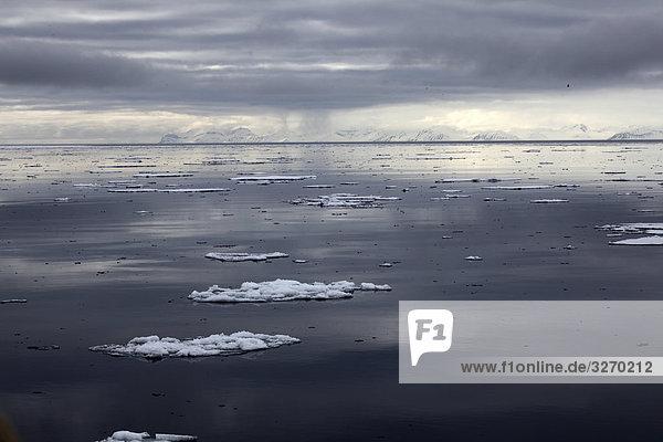 Eisschollenfeld bei den Spitzbergen