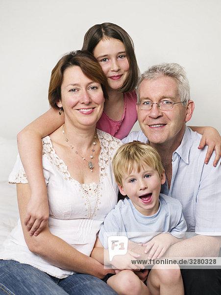 Ein Porträt einer Familie