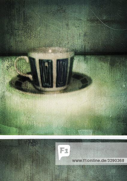 Kaffeetasse auf Untertasse