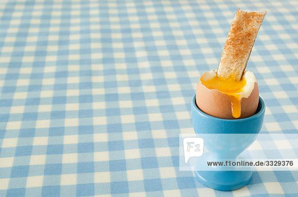 Gekochtes Ei und Toast