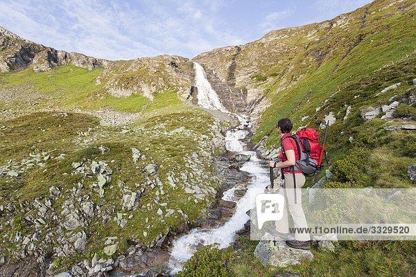 Bergsteigerin  Nationalpark  Hohe Tauern  Österreich