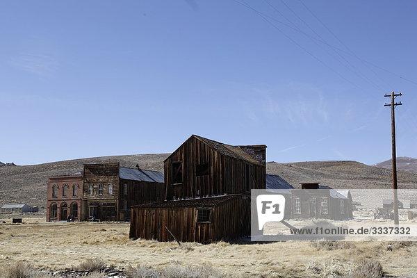 Häuser und Anlagen in der Goldgräberstadt Bodie in Kalifornien