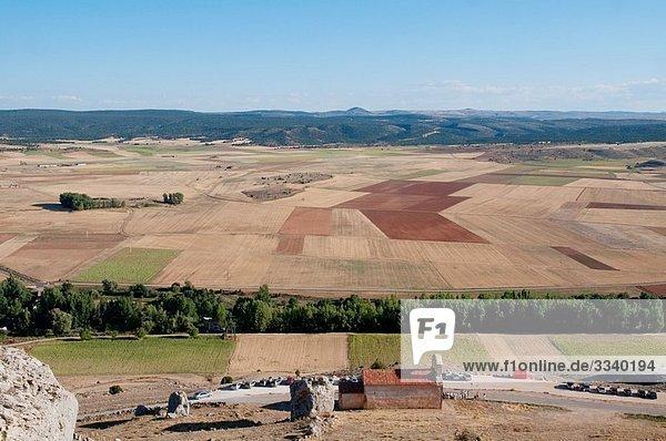 Landscape from the castle. Gormaz  Soria province  Castilla Leon  Spain.
