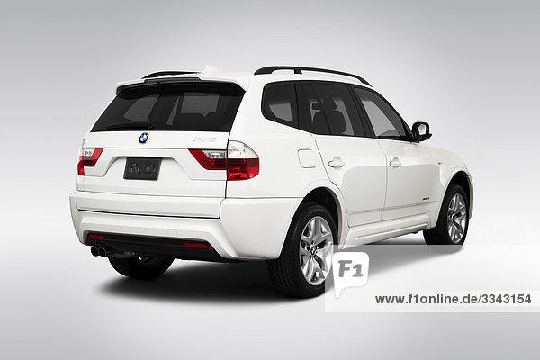 weiß Rückansicht Ansicht Flachwinkelansicht BMW 3 Winkel