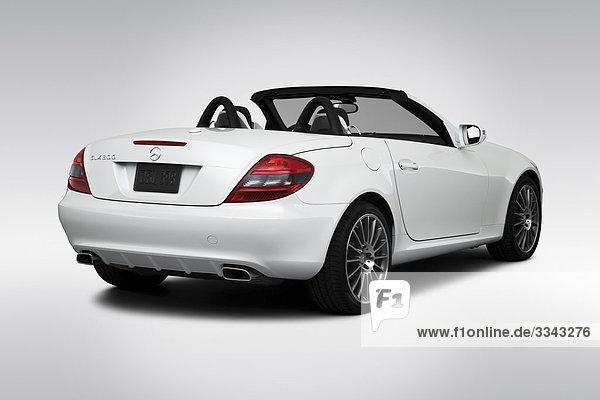 2010 Mercedes-Benz SLK-Klasse SLK300 in weiß - Winkel Rückansicht