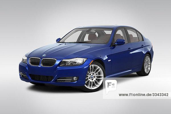2010 BMW 3er 335d in blau - Winkel Vorderansicht