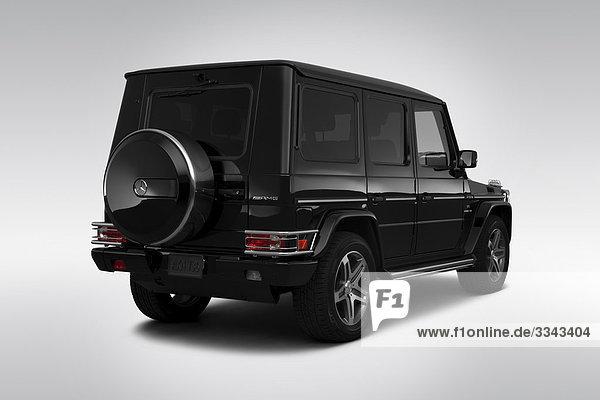 schwarz Rückansicht Ansicht Flachwinkelansicht Daimler-Chrysler G-Klasse Winkel