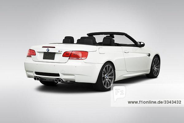 2010 BMW 3-Serie M3 in weiß - Winkel Rückansicht
